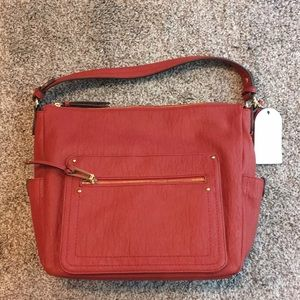 Jessica Simpson red hobo bag